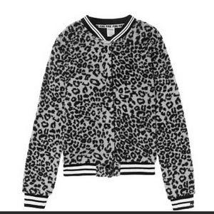 NEW Vs Pink Sherpa Jacket Leopard Small